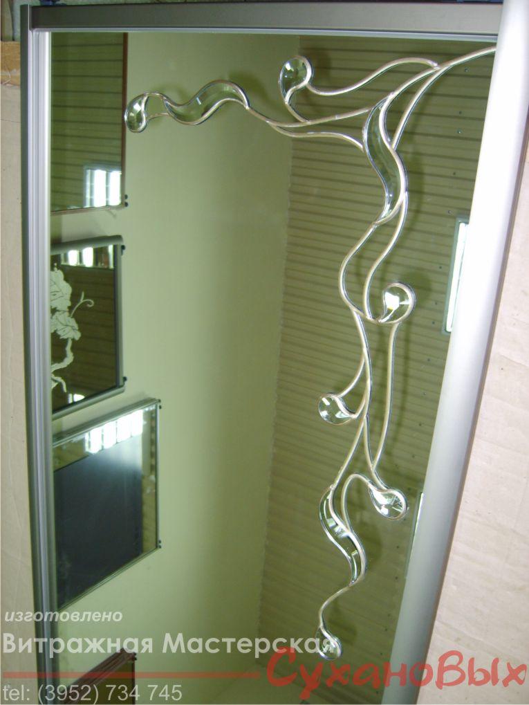 Декор для зеркала шкафа купе своими руками 594